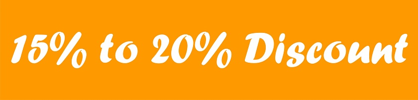 15% to 20% Discount